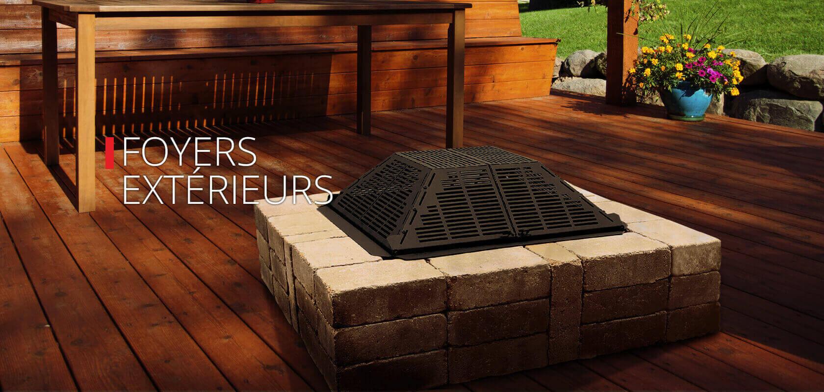 Foyers et po les au bois gaz et thanol for Foyer gaz exterieur