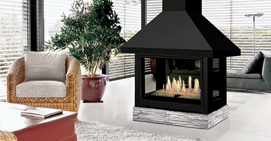 Wood fireplaces J. A. ROBY, Gas fireplaces J. A. ROBY